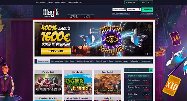 Découvrez notre avis sur Magik casino